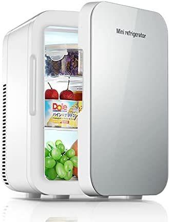 冷温庫 ミニ冷蔵庫 小型冷蔵庫 8L 保冷 1ドア 2システム 温度調節?家庭 車載両用 保温 ポータブル コンパクト_画像1