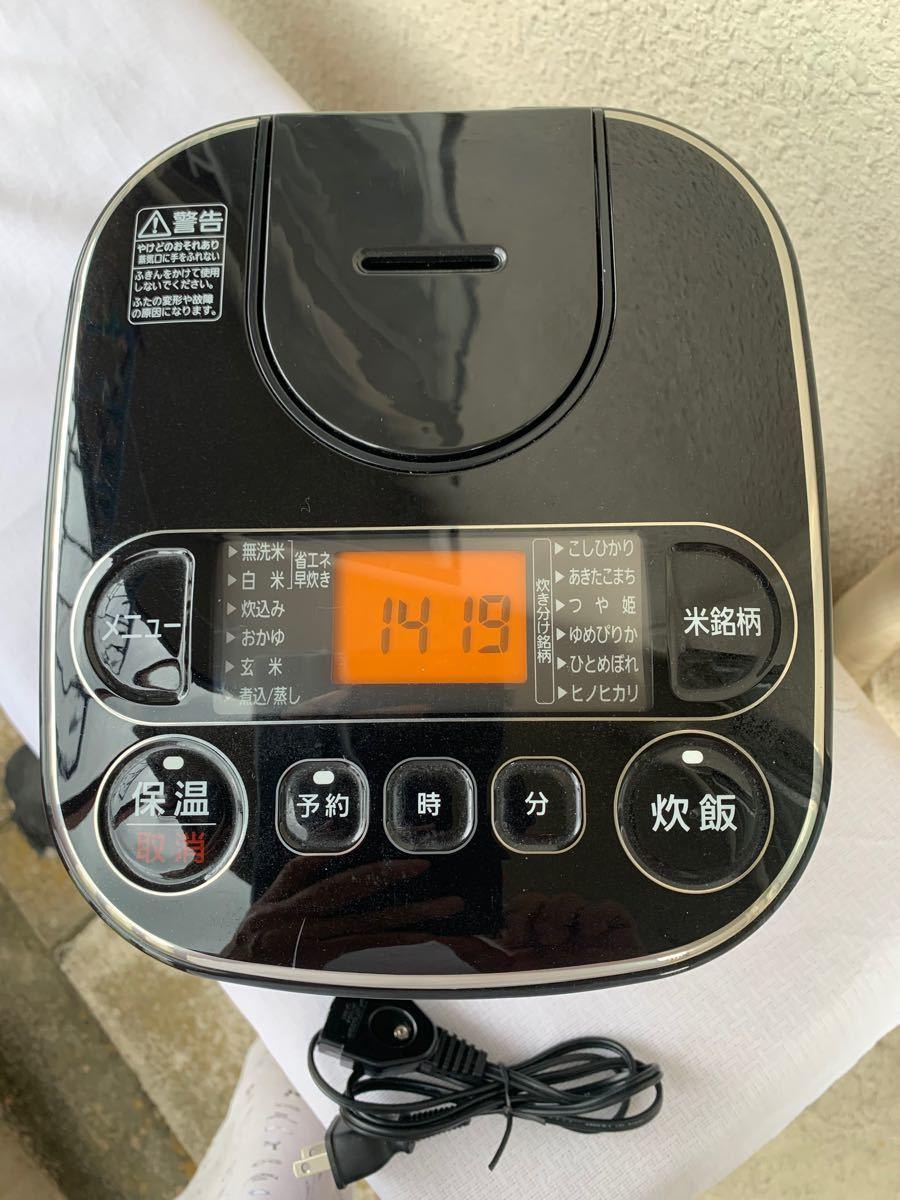 炊飯器 3合炊き アイリスオーヤマ RC-MA30AZ-B 2018年製