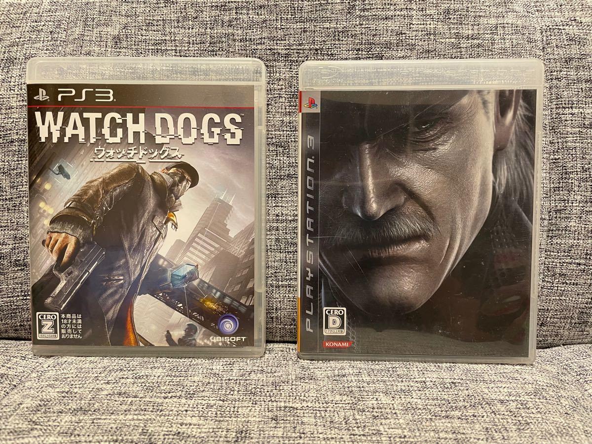 PS3ソフト  メタルギアソリッド4 ・ウォッチドッグス