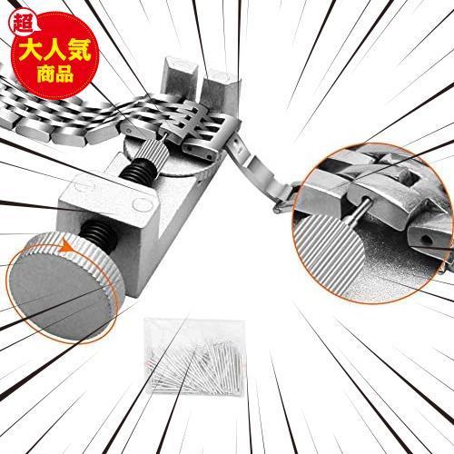 ★最安★腕時計ベルト調整 時計用工具キット 時計道具セット 腕時計修理工具 収納ケース付き HU-829 バンド調整 時計工具 電池交換_画像8
