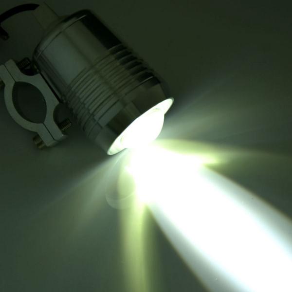 防水 フォグランプ バイク用 LED ヘッドライト 黒 2個セット Hi/Lo デイライト/補助灯/スポットライト/オートバイ_画像3