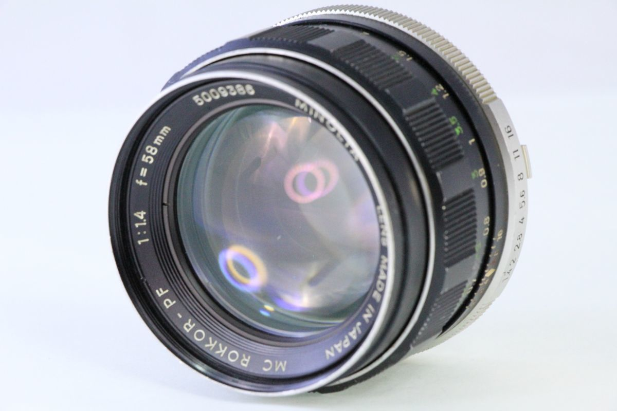 実用★ミノルタ MINOLTA MC ROKKOR-PF 58mm F1.4★くもり★2438_画像1