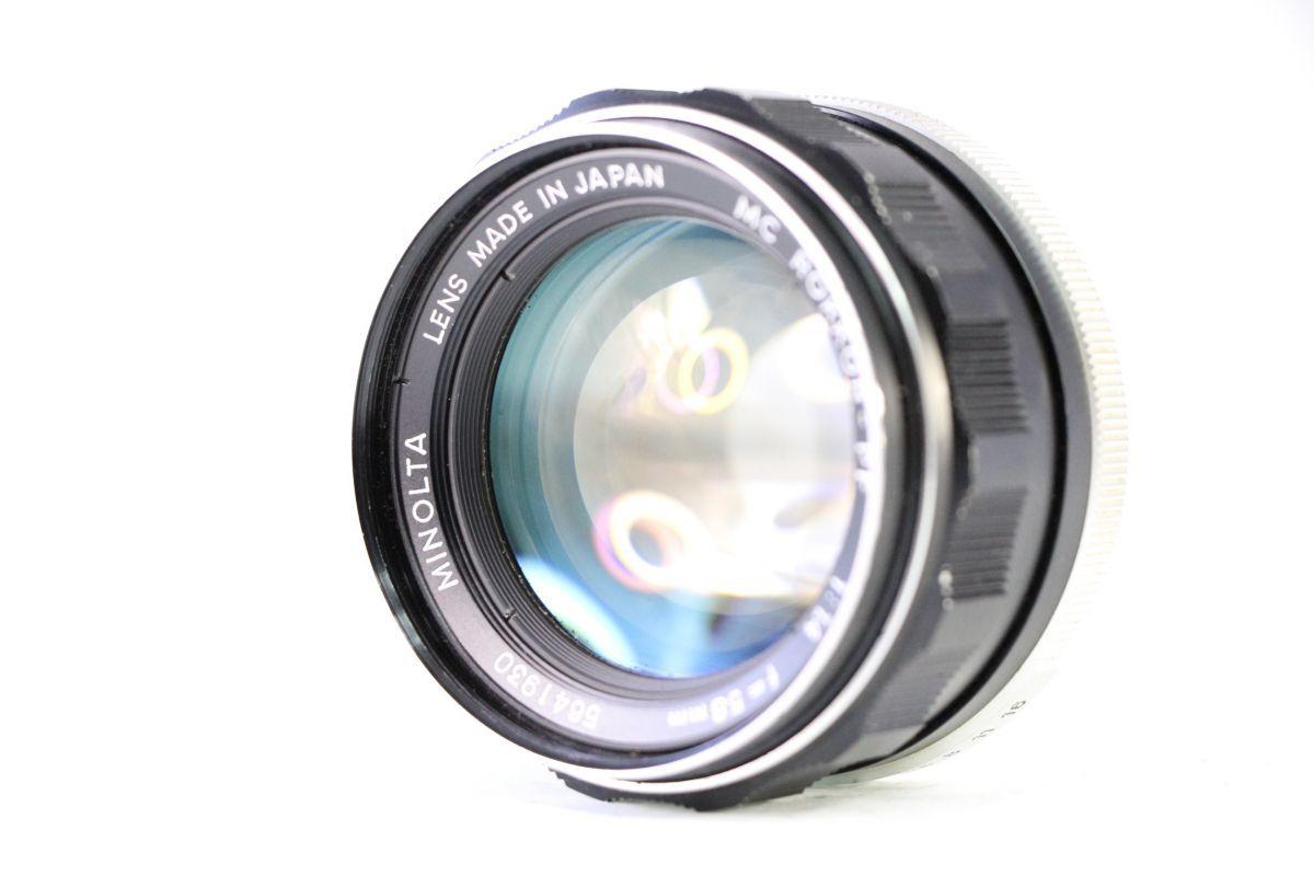 実用★ミノルタ MINOLTA MC ROKKOR-PF 58mm F1.4★薄クモリ★11555_画像1