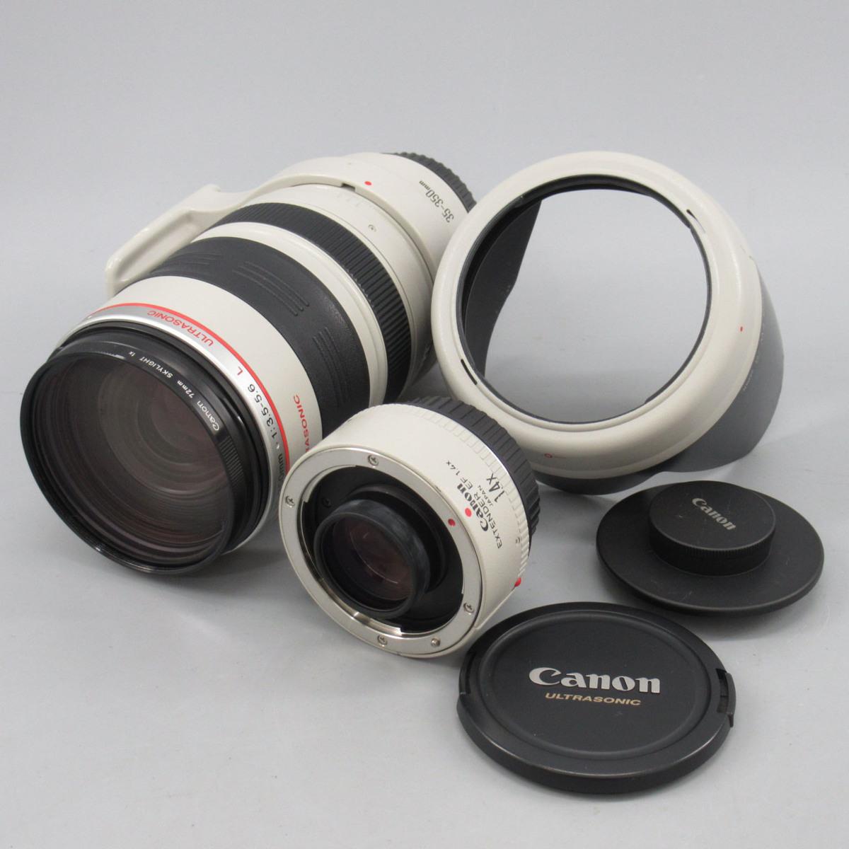1円~ CANON ZOOM LENS EF 35-350mm 1:3.5-5.6 L&EXTENDER EF 1.4x レンズ ※現状品 動作未確認 キャノン o65oyni-1137537【O商品】