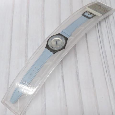 swatch スウォッチ SKIN 水色 ブルー系  腕時計 ケース付 新品未使用 保管品 電池交換済 稼働品  m001 6190