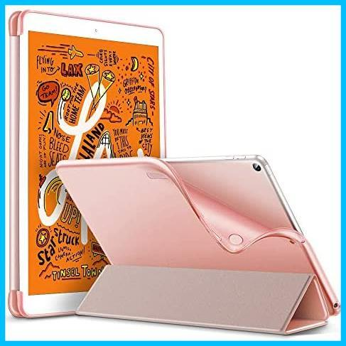 ESR iPad Mini 5 2019 ケース 軽量 薄型 スマート カバー 耐衝撃 傷防止 ソフト TPU 背面 ケース 三つ折り スタンド オートスリープ_画像1