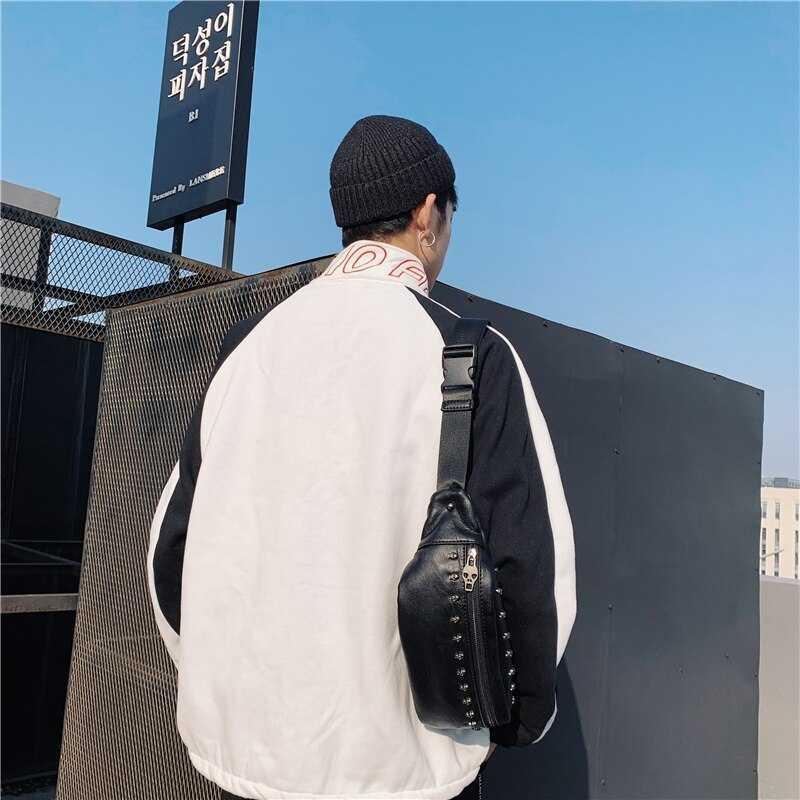 メンズ ウエストポーチ ボディーバッグ 斜め掛け レザー 高品質 ウエストバッグ ボディバッグ 男女兼用 ヒップバッグ ブラック