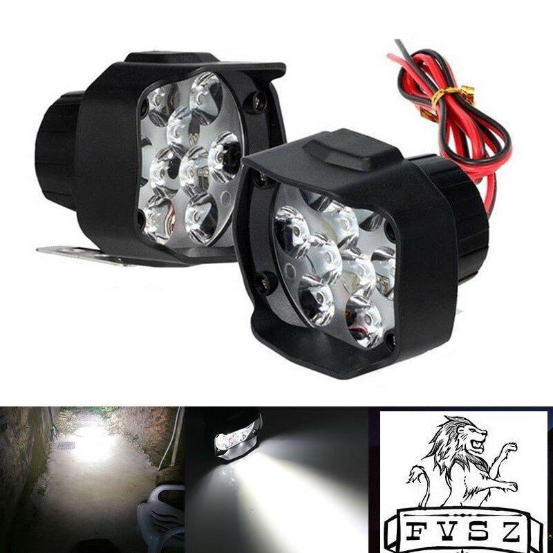 2個オートバイヘッドライトホワイト 超高輝度9/led/6500/18k ワーキングスポットライト バイクフォグランプ 1800LM/led_画像1