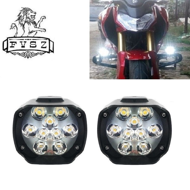 2個オートバイヘッドライトホワイト 超高輝度9/led/6500/18k ワーキングスポットライト バイクフォグランプ 1800LM/led_画像5