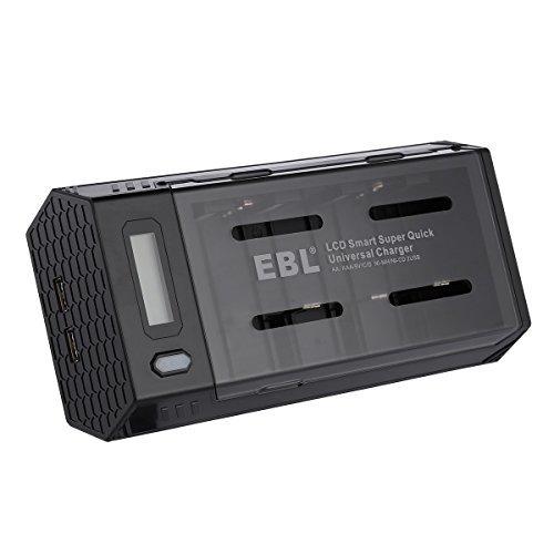 EBL 充電器単一 単二 単三 単四 9Vに対応 ニッケル水素・ニカド充電池急速専用充電器 2 USB (1.0A*2) 同時充_画像1