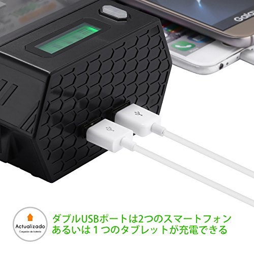 EBL 充電器単一 単二 単三 単四 9Vに対応 ニッケル水素・ニカド充電池急速専用充電器 2 USB (1.0A*2) 同時充_画像3