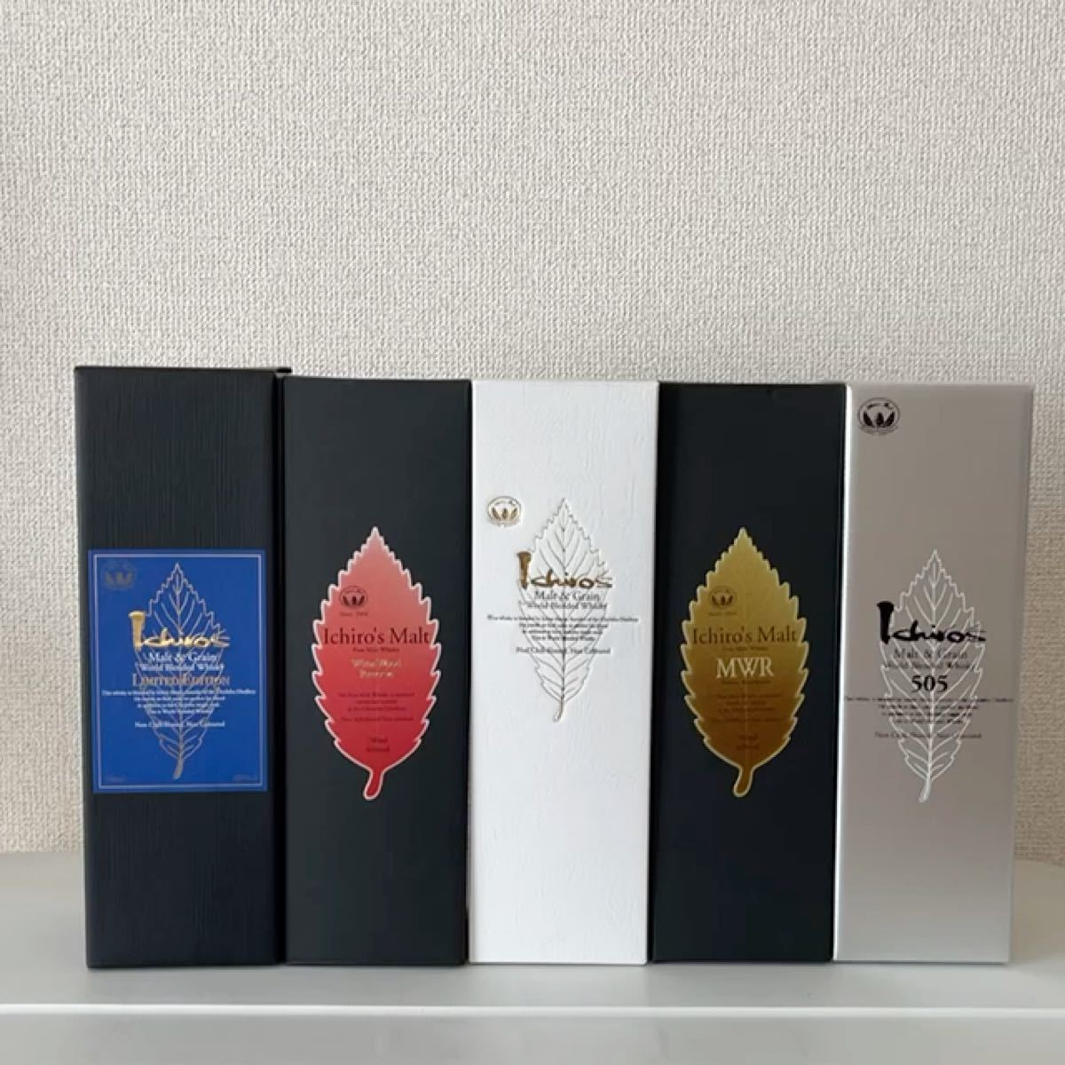 お買得 新品 イチローズモルト 葉っぱシリーズ リーフシリーズ 総出 箱付 リミテッドエディション ワイン ミズナラ ウッド 秩父