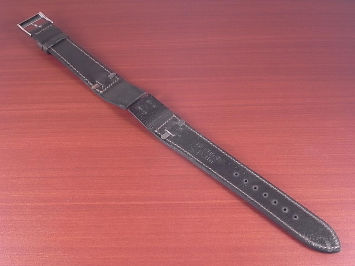 CC-035b アキュレイトフォルム 艶ありヌメ牛ステア 革ベルト オープンエンド ダークブラウン 16mm、18mm、20mm_画像2