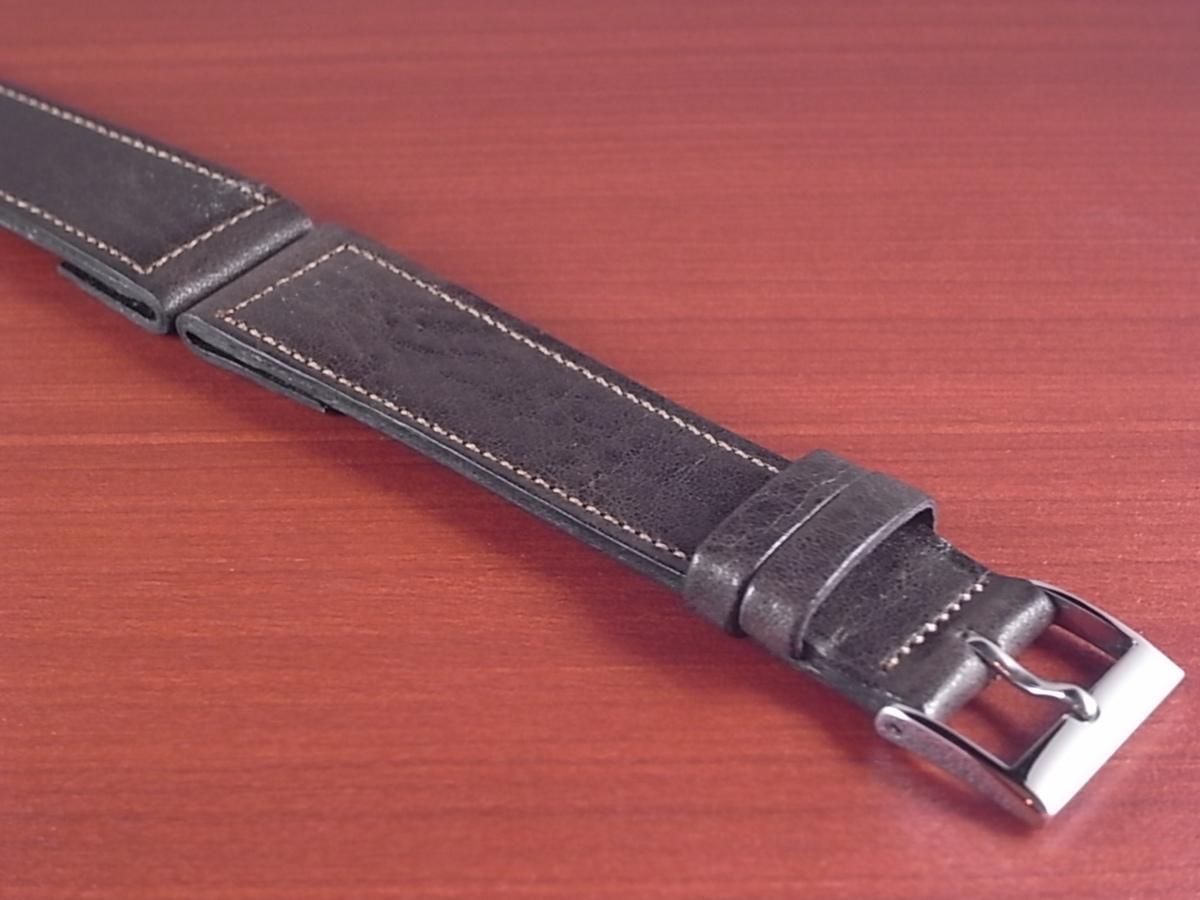 CC-035b アキュレイトフォルム 艶ありヌメ牛ステア 革ベルト オープンエンド ダークブラウン 16mm、18mm、20mm_画像6