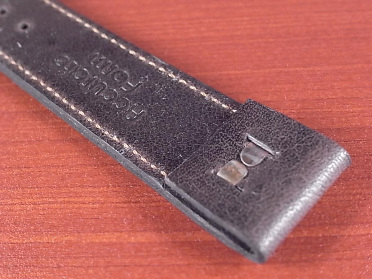 CC-035b アキュレイトフォルム 艶ありヌメ牛ステア 革ベルト オープンエンド ダークブラウン 16mm、18mm、20mm_画像5