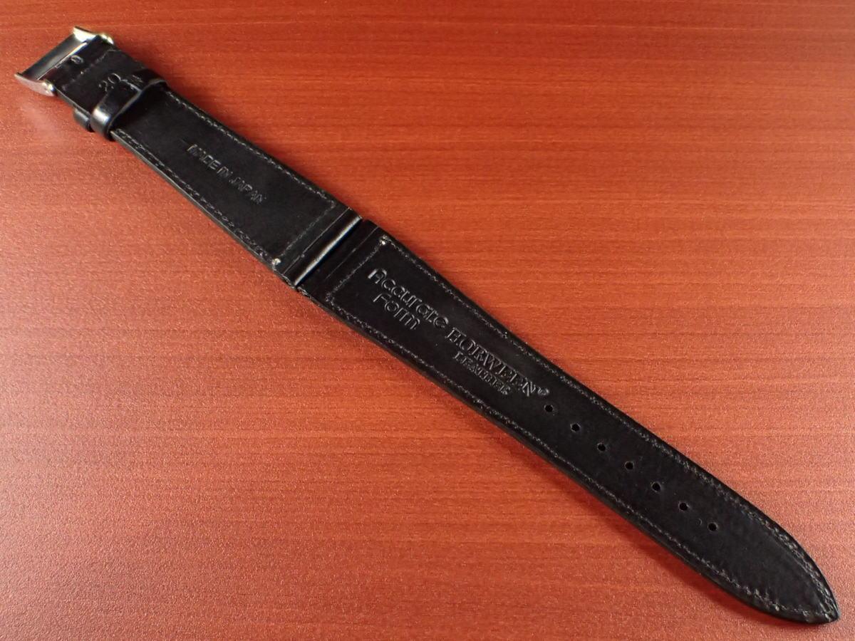 CBHC-05a ★新型★ アキュレイトフォルム ホーウィン クロムエクセル革ベルト レギュラー ブラック 16、17、18、19、20、22mm_画像2