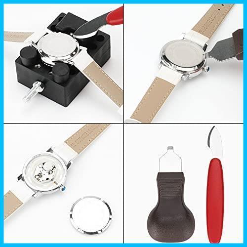 220点セット時計工具 ColiChili 腕時計修理 電池交換 時計ベルト交換 バンド調整 裏蓋オープナ 180本バネ棒付き 収納ケース付き 品質が良い_画像5