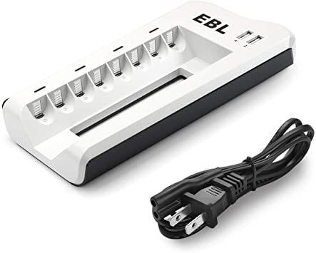 充電器単体 EBL 電池充電器 8スロット 単三単四ニッケル水素/ニカド充電池に対応 単3単4電池充電器 USB充電器 充電の同_画像1