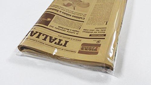 ショコラ 【フジパック】 イタリア 新聞紙柄 包装紙 ラッピング 100枚 おしゃれでかわいいデザイン (ショコラ)_画像3