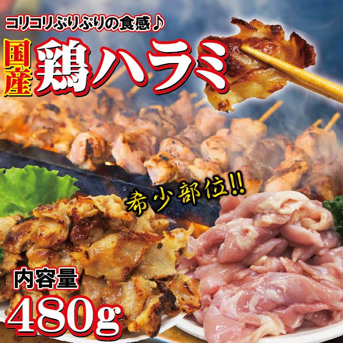 国産鶏ハラミはらみさがり希少部位 480g 【ホルモン】【焼肉】【バーベキュー】【メガ盛り】【サガリ】【さがり】_画像1
