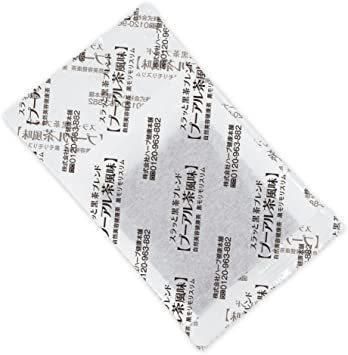 165g(5.5gティーバッグ×30包) ハーブ健康本舗 黒モリモリスリム (プーアル茶風味) (30包)_画像3