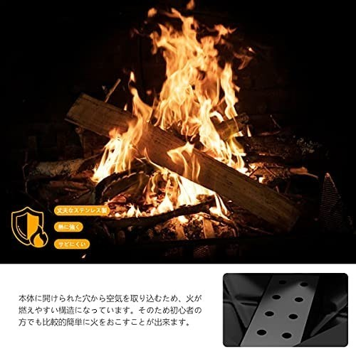 バーベキューコンロ 焚き火台 キャンプ用品 BBQコンロ アウトドア用 折りたたみ式 携帯便利 バーベキューセット 1台2役
