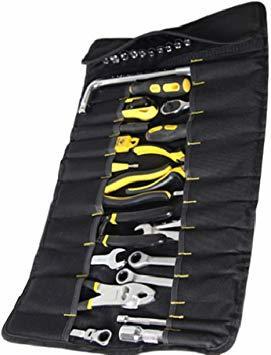 ★本日限り★紺 【Rurumi】工具 道具 収納 ツール ロール バッグ 22 ポケット ケース ポーチ 袋 (紺)_画像5