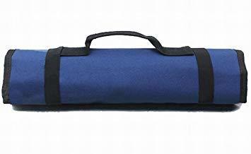 ★本日限り★紺 【Rurumi】工具 道具 収納 ツール ロール バッグ 22 ポケット ケース ポーチ 袋 (紺)_画像1