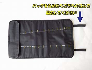 ★本日限り★紺 【Rurumi】工具 道具 収納 ツール ロール バッグ 22 ポケット ケース ポーチ 袋 (紺)_画像4