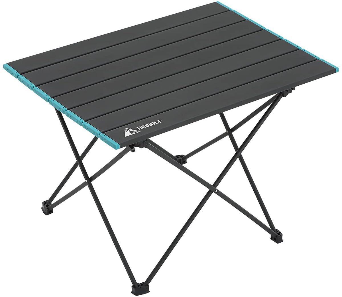 折り畳み式アウトドアテーブル フレーム一体化 収納袋付きアルミ製 組立簡単超軽量
