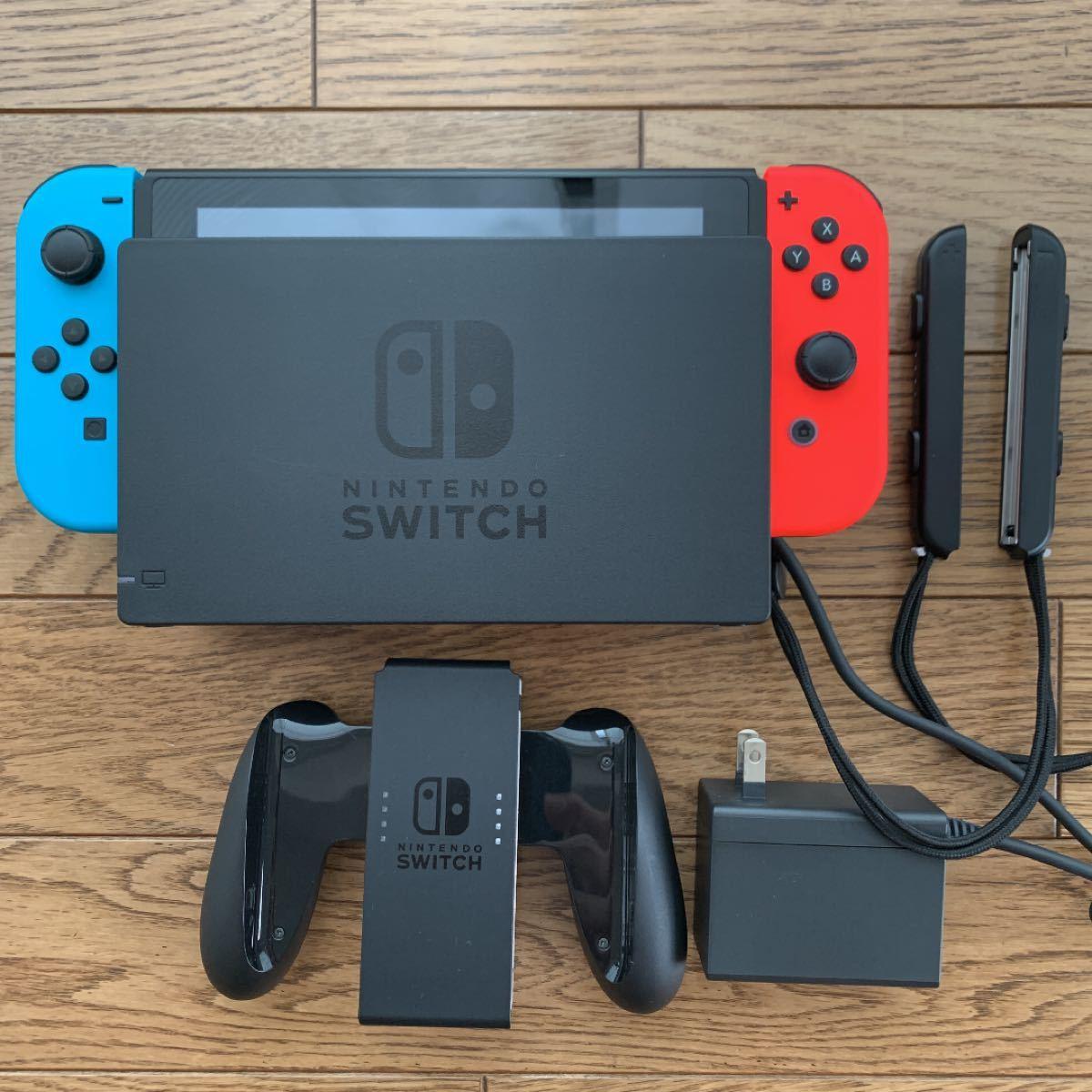 Nintendo Switch ニンテンドースイッチ【箱あり、メーカー保証あり】 ネオンレッド ネオンブルー 新モデル 即購入OK