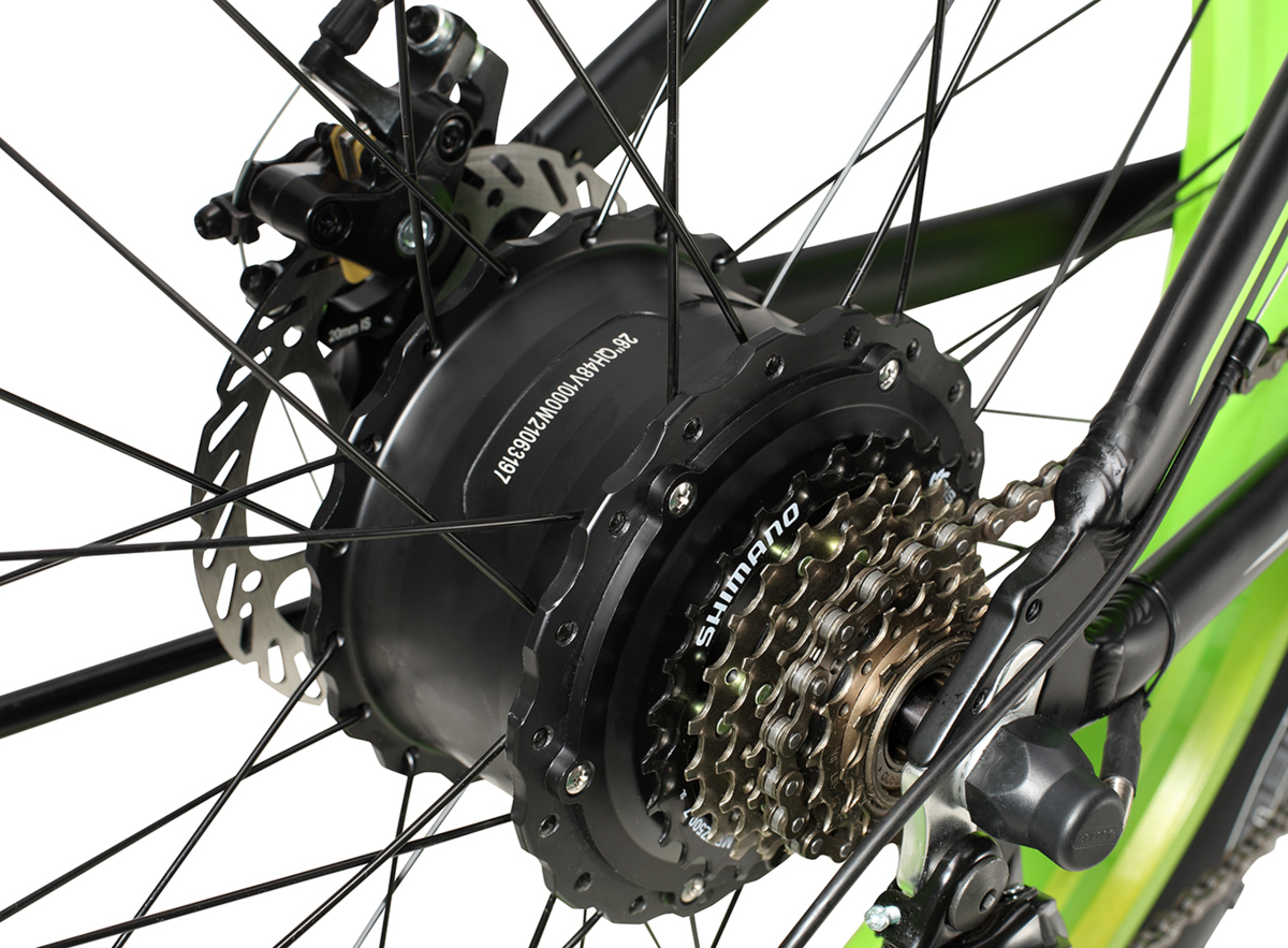 26インチファットバイク26*4.0迫力の極太タイヤ 48V13Ah1000W最大時速50キロ 外装シマノ21段変速DブレーキLEDライト搭載2WAYと3WAY切り替え_画像9
