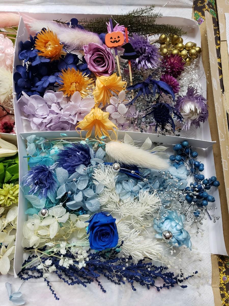 プリザーブドフラワー、 ハーバリウム花材詰め合わせセット① プリザーブドフラワー ドライフラワー ハーバリウム 花材
