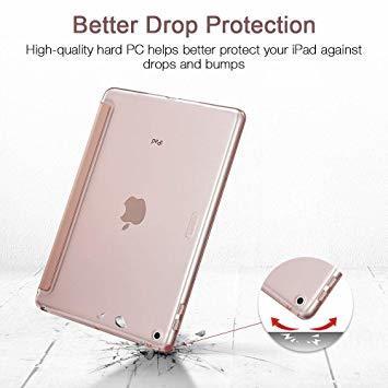 ローズゴール ESR iPad Mini 5 2019 ケース 軽量 薄型 PU レザー スマート カバー 耐衝撃 傷防止 クリ_画像5