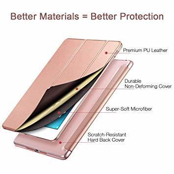 ローズゴール ESR iPad Mini 5 2019 ケース 軽量 薄型 PU レザー スマート カバー 耐衝撃 傷防止 クリ_画像7