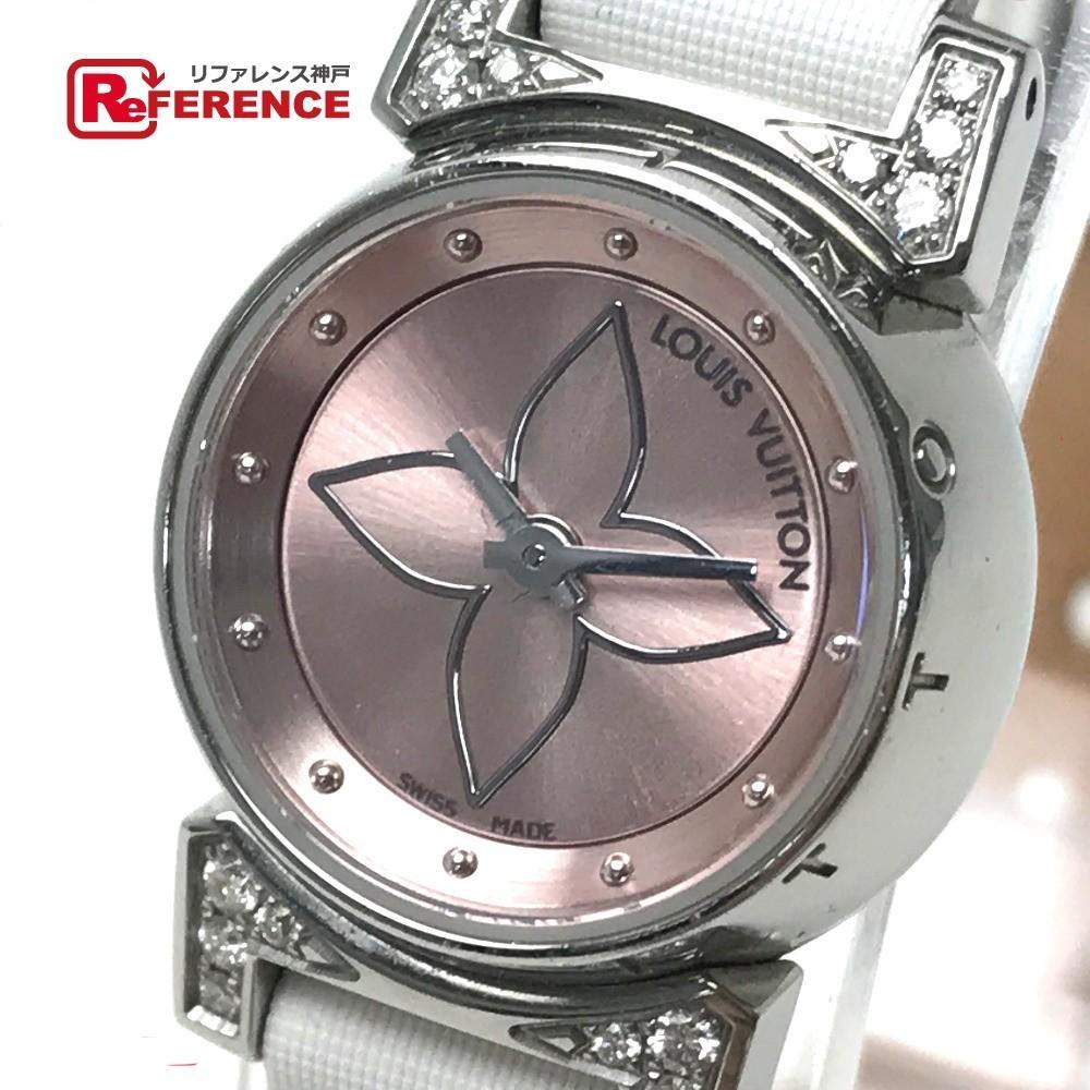 LOUIS VUITTON ルイ・ヴィトン Q151P レディース腕時計 タンブール ビジュ ラグダイヤ SS/モノグラム・ドゥスールベルト(ブロン)_画像1