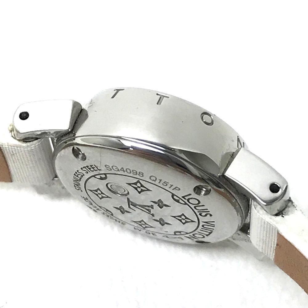 LOUIS VUITTON ルイ・ヴィトン Q151P レディース腕時計 タンブール ビジュ ラグダイヤ SS/モノグラム・ドゥスールベルト(ブロン)_画像3