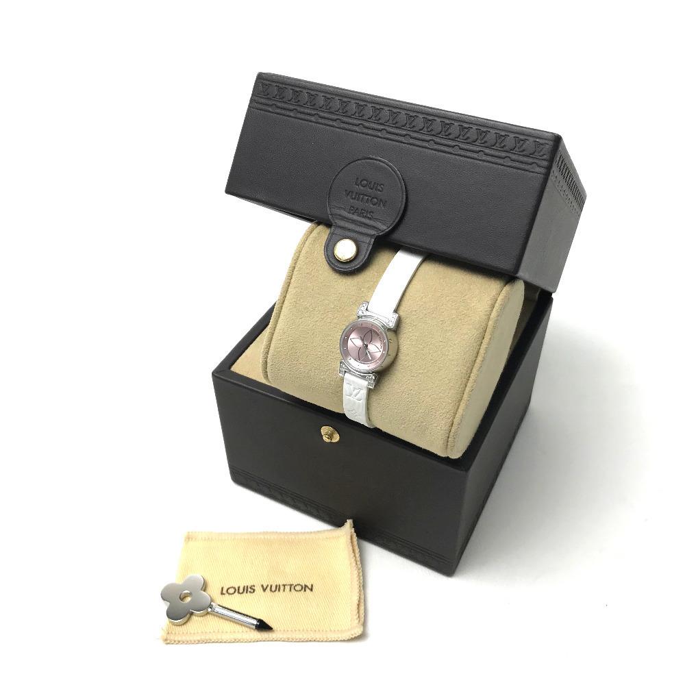LOUIS VUITTON ルイ・ヴィトン Q151P レディース腕時計 タンブール ビジュ ラグダイヤ SS/モノグラム・ドゥスールベルト(ブロン)_画像7