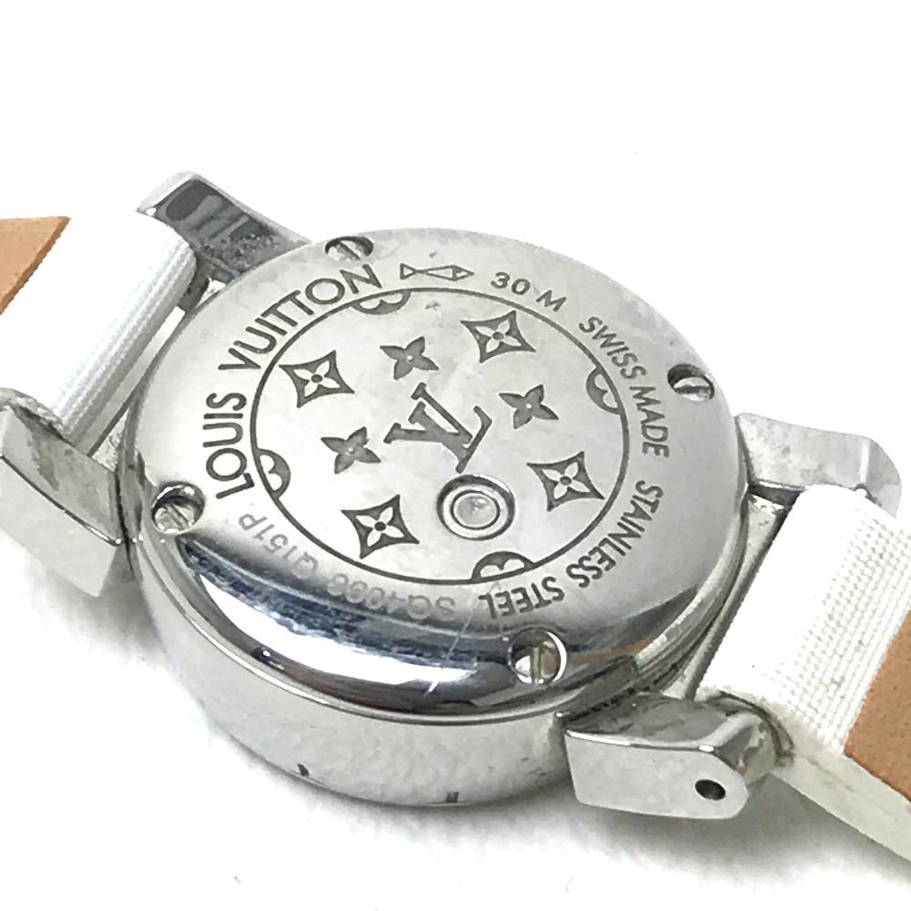 LOUIS VUITTON ルイ・ヴィトン Q151P レディース腕時計 タンブール ビジュ ラグダイヤ SS/モノグラム・ドゥスールベルト(ブロン)_画像6