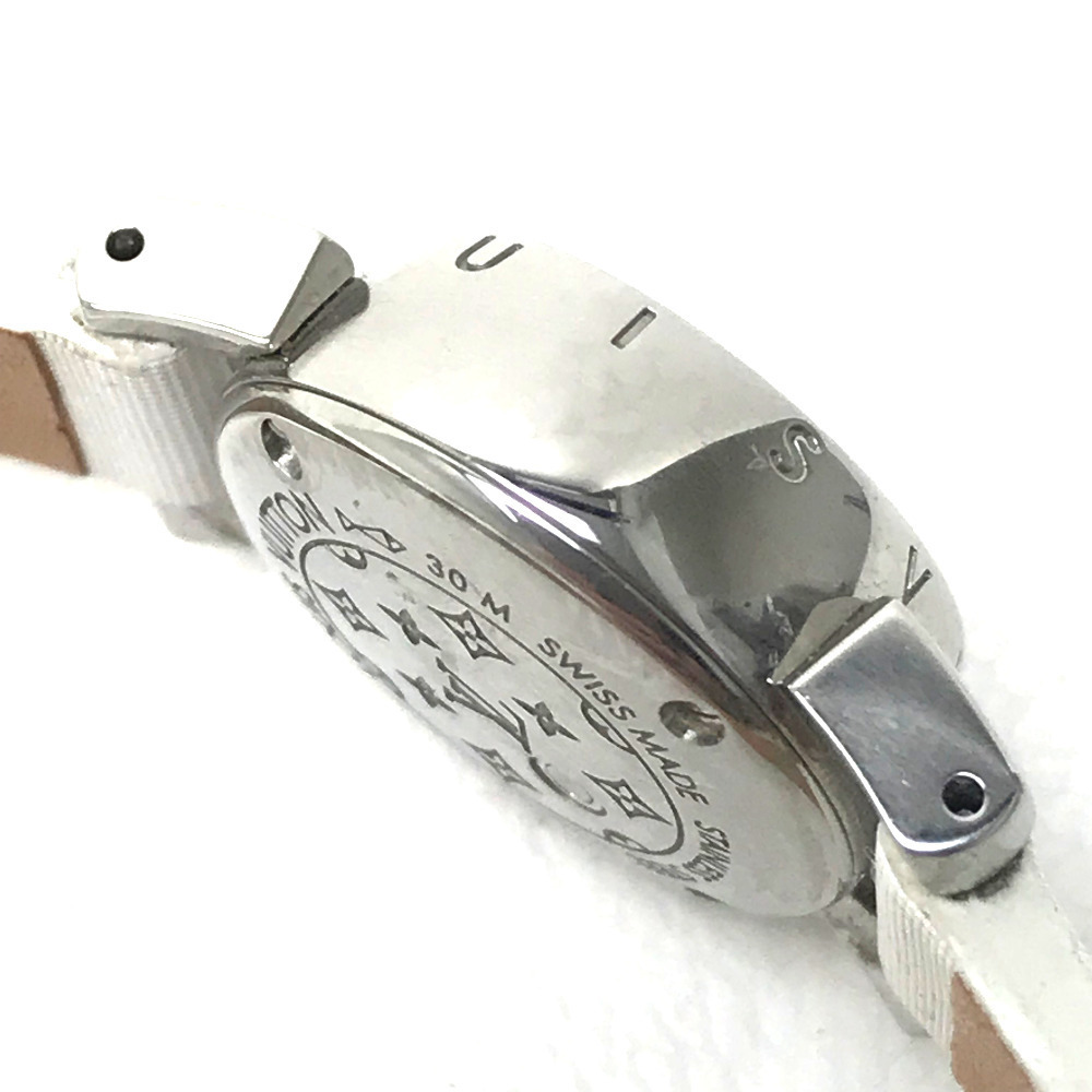 LOUIS VUITTON ルイ・ヴィトン Q151P レディース腕時計 タンブール ビジュ ラグダイヤ SS/モノグラム・ドゥスールベルト(ブロン)_画像4