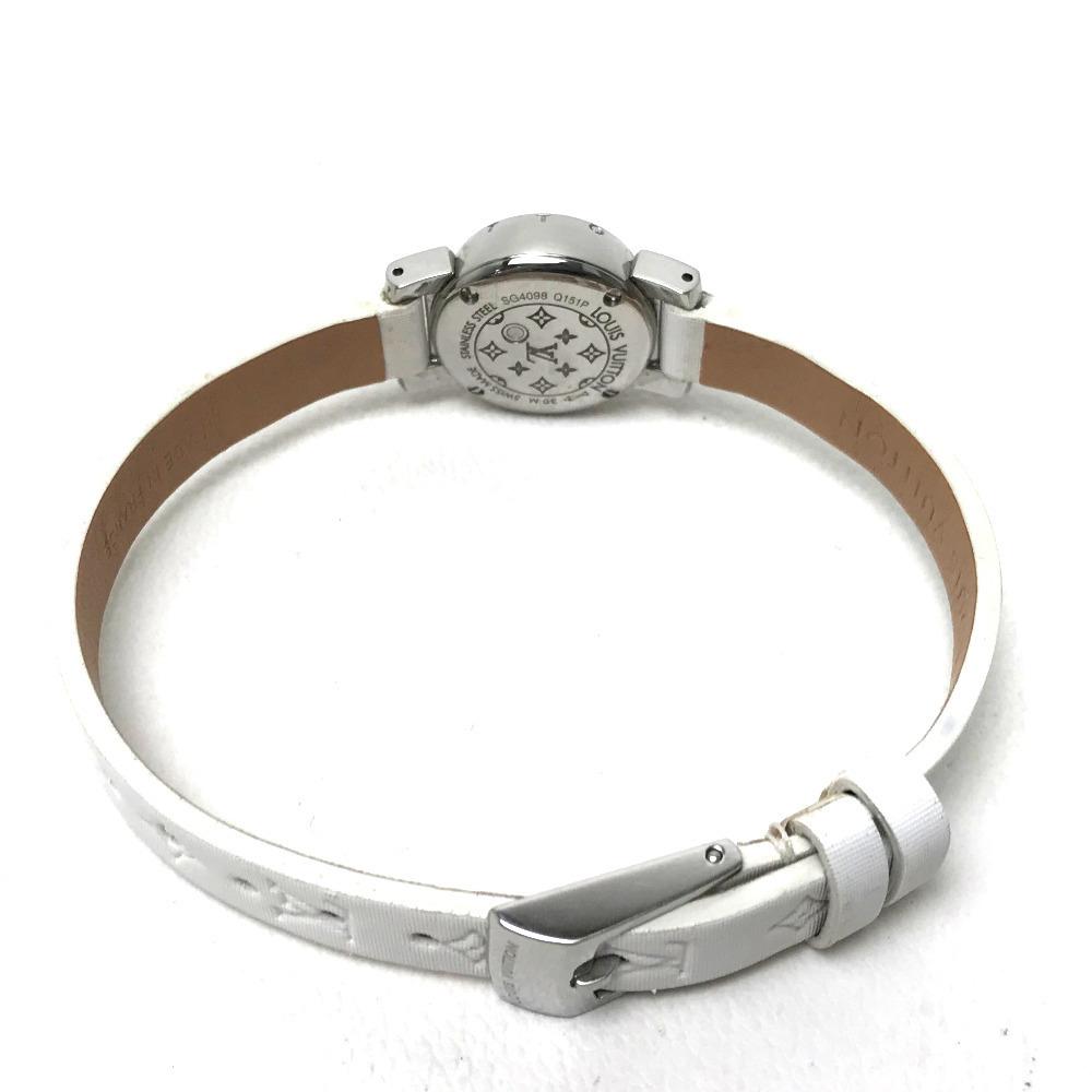 LOUIS VUITTON ルイ・ヴィトン Q151P レディース腕時計 タンブール ビジュ ラグダイヤ SS/モノグラム・ドゥスールベルト(ブロン)_画像2
