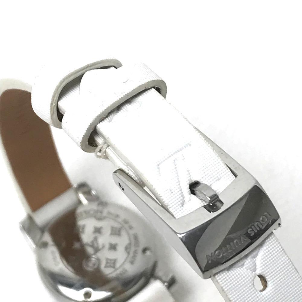 LOUIS VUITTON ルイ・ヴィトン Q151P レディース腕時計 タンブール ビジュ ラグダイヤ SS/モノグラム・ドゥスールベルト(ブロン)_画像5