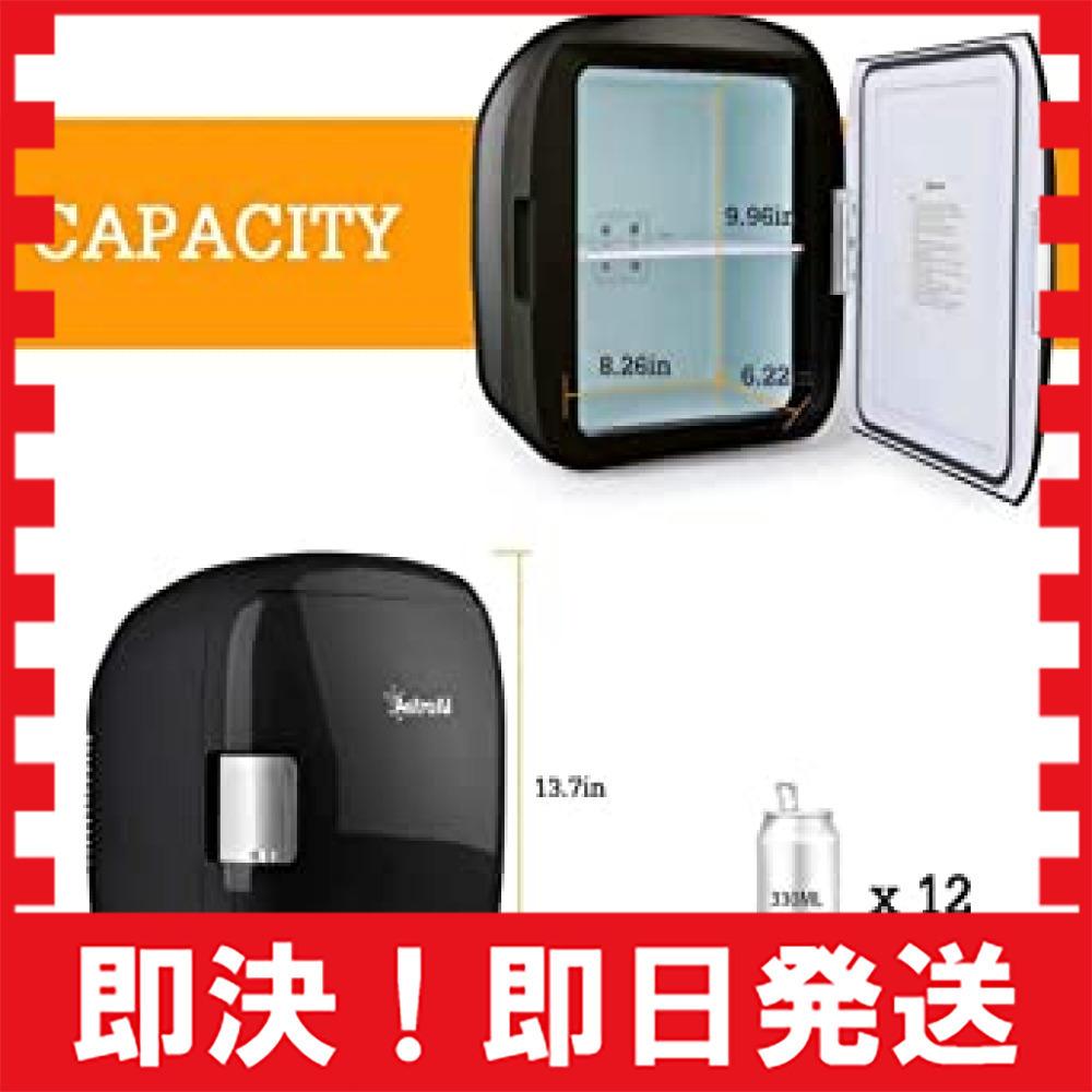 ブラック AstroAI 冷蔵庫 小型 ミニ冷蔵庫 小型冷蔵庫 車載冷蔵庫 冷温庫 9L 化粧品 小型でポータブル 家庭 車載_画像2