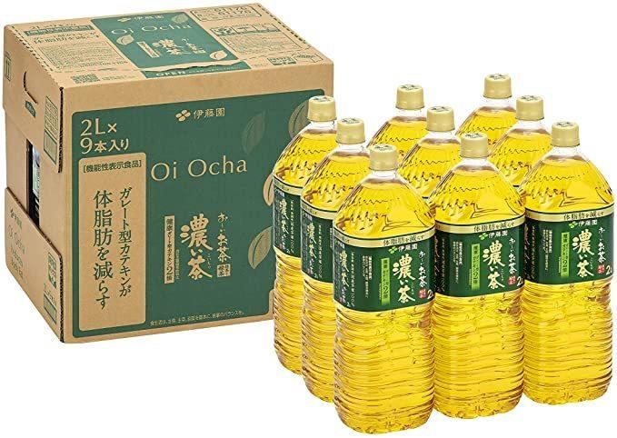 最安【即決・】 伊藤園 RROボックス おーいお茶 濃い茶 2L ×9本【機能性表示食品】_画像1