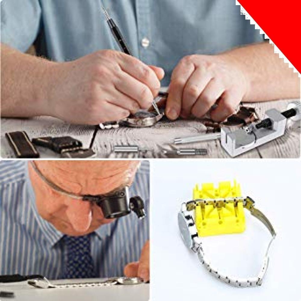 ★E?Durable 腕時計バンド調整 時計ベルト交換 腕時計修理工具セット バンドサイズ調整 時計修理ツール バ_画像7