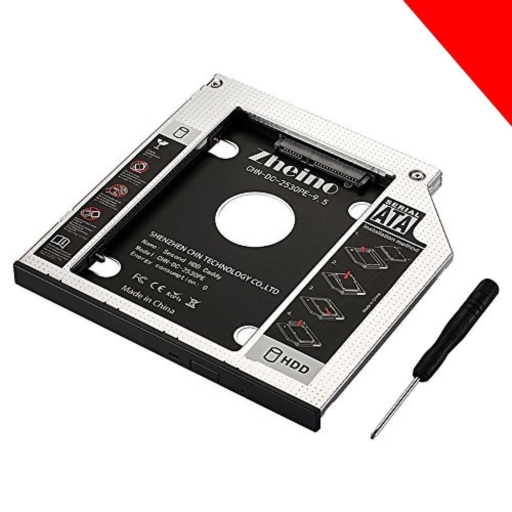 ★CHN-DC-2530PE-9.5 Zheino 2nd 9.5mmノートPCドライブマウンタ セカンド 光学ドライブベイ用 _画像7