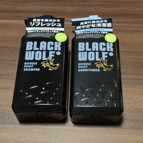【新品未開封】大正製薬 ブラックウルフ ・リフレッシュ  スカルプシャンプー&コンディショナー