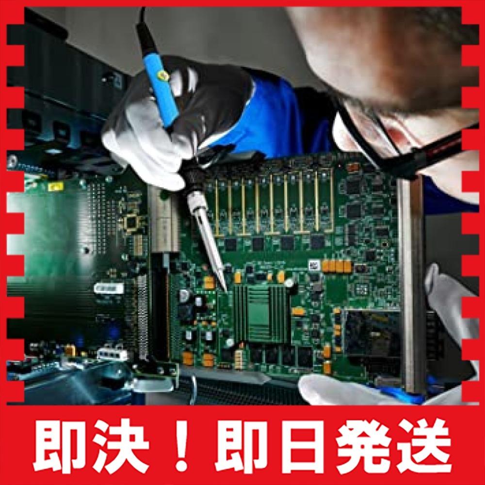 青 はんだごて SREMTCH はんだごてセット ON/OFFスイッチ 温度調節可(200~450℃) 9-in-1 60W/1_画像5