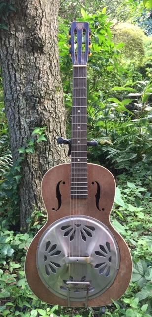 激レア!遂にプロ放出品!本物30年代USA製【オリジナル・ドブロ DOBROギター】激鳴りのリゾネーター!ブルース、カントリー、ハワイアンに抜群_画像2