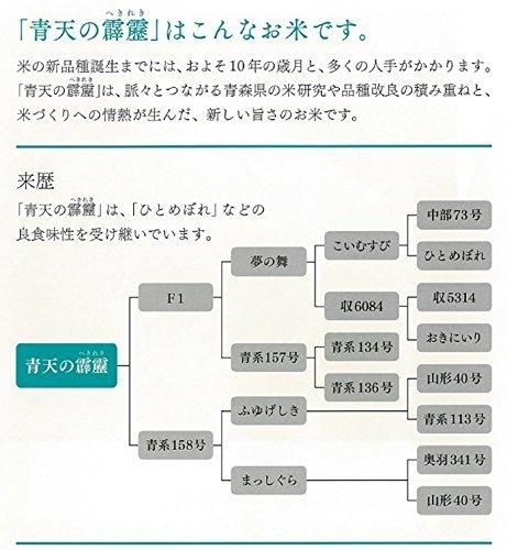 2kg 【精米】青森県産 白米 青天の霹靂 2kg 平成30年産_画像3